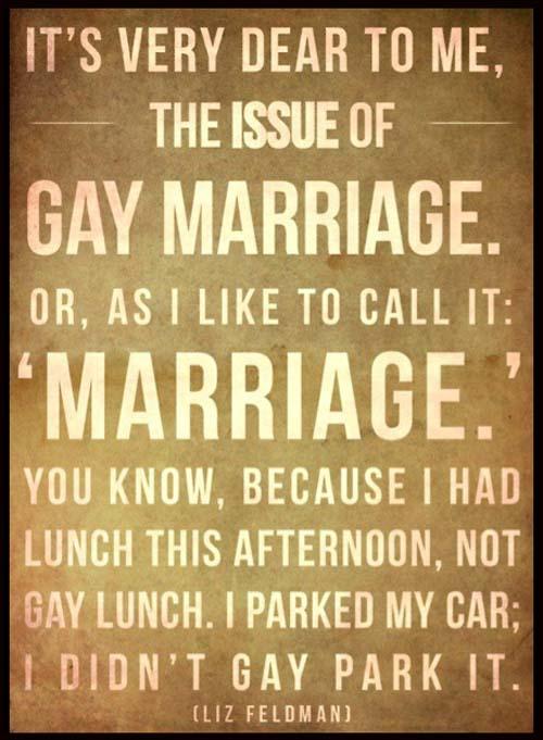 gay married joke