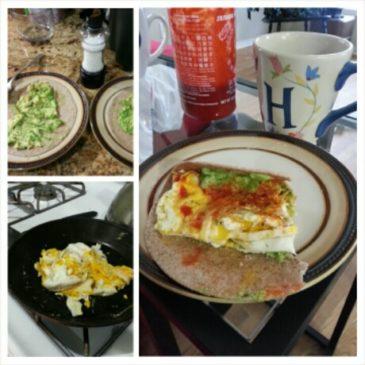 Avocado and Egg Breakfast Tacos. So yum.