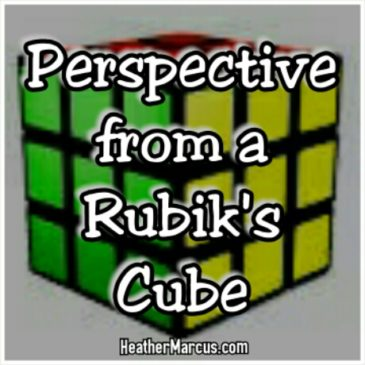 Perspective from a Rubik's Cube